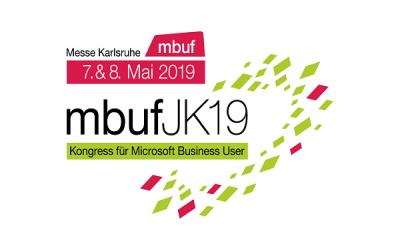 Wir sind erneut als Sprecher und Aussteller auf dem mbuf Jahreskongress 2019 in Karlsruhe vertreten