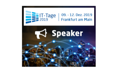 We speak again on the Frankfurt IT days 2019