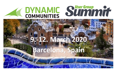 Dynamic Communities User Group Summit Europe, Barcelona 9-12 March 2020