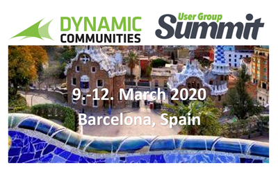 Dynamic Communities User Group Summit Europa, Barcelona 9.-12. März 2020