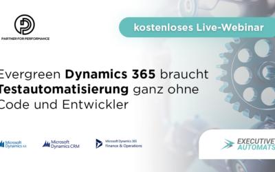 Webinar am Montag, 27. Januar 16 Uhr zu codefreier Dynamics 365/AX Testautomatisierung
