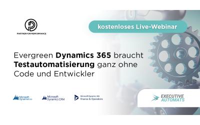 Webinar am Mittwoch, 26. Februar 15 Uhr zu codefreier Dynamics 365/AX Testautomatisierung