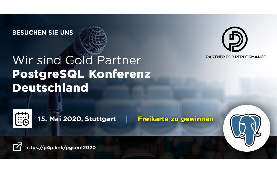 Wir sind Gold Sponsor der deutschen PostgreSQL Konferenz am 15. Mai in Stuttgart